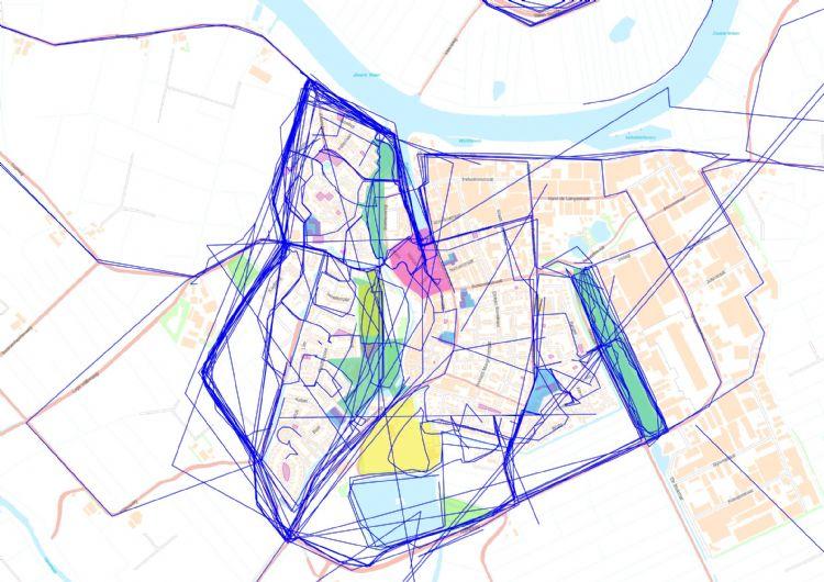 Figuur 5: Routes van ommetjes