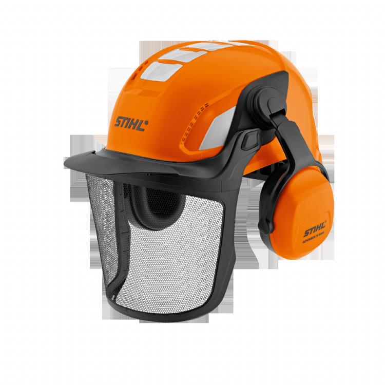 De helmset Stihl Advance X-Vent BT biedt niet enkel veiligheid. Dankzij de Bluetooth-interface en een AUX-ingang is deze helmset ook uitgerust met ontspannings-, communicatie- en noodoproepopties.