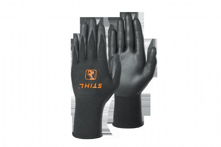De handschoenen met touch-functie zijn aan elke vinger en de volledige handpalm bedekt met een geleidende laag.