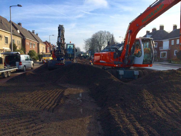 Bodemverbeteringswerk in de bebouwde kom van Enschede