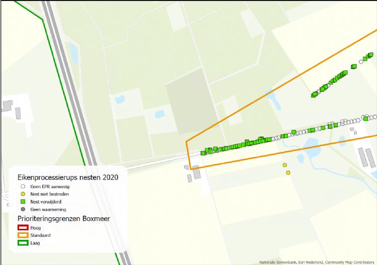 Uitsnedes uit het Arc-GIS-systeem van de gemeente Boxmeer