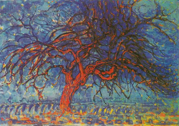 Piet Mondriaan. Avond, de rode boom 1908