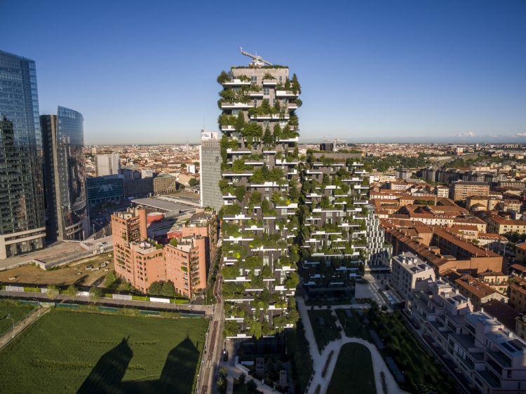 Het Bosco Verticale in Milaan. Foto: Davide Piras