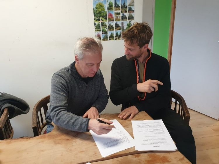 Rob Gulmans van Quercus (l) en Bas van der Veer (r)