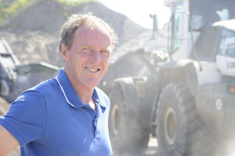Harry Gubbels, eigenaar van Gubbels Infra en Milieu in Helvoirt