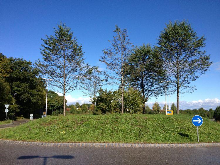 De rotonde bij Starnberg