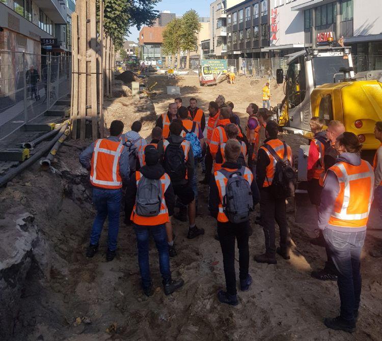 Praktijkdag in Uden bij reconstructie Marktstraat