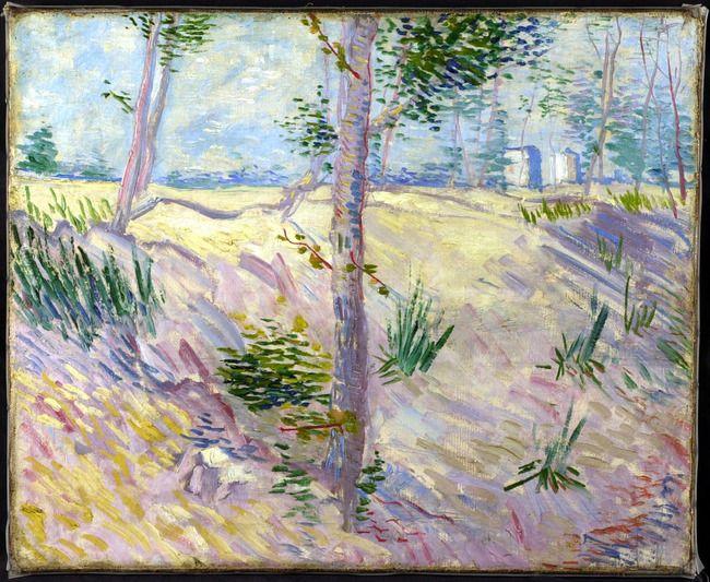 Vincent van Gogh. Oever met bomen 1887