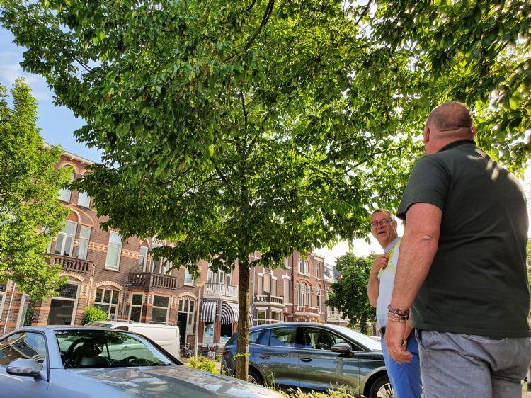 Corné Leenders van Boomkwekerij Udenhout en Dirk Doornenbal van NBB-Groep